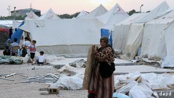 Syrian refugees at a camp in Reyhanli, Turkey