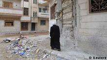 «در صورت اجرای طرح کوفی عنان، امکان حل بحران سوریه از طریق مذاکره بوجود خواهد آمد.» عکس: نمایی از شهر حمص در مارس ۲۰۱۲.