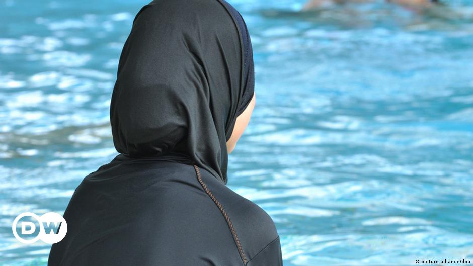 Image result for muslim swimming france