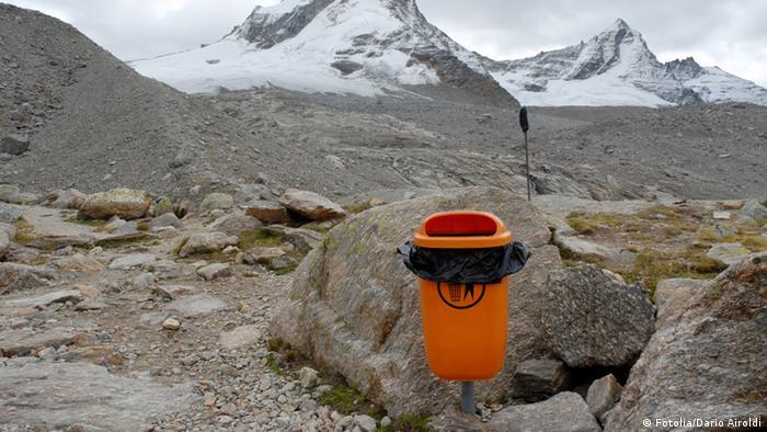 Bergsteigen Umwelt Verschmutzen Sauberhalten