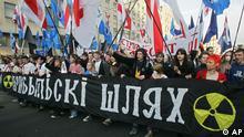 Weißrussland Belarus Minsk Tschernobyl Protest