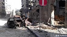 تصویری از شهر تخریبشده حمص