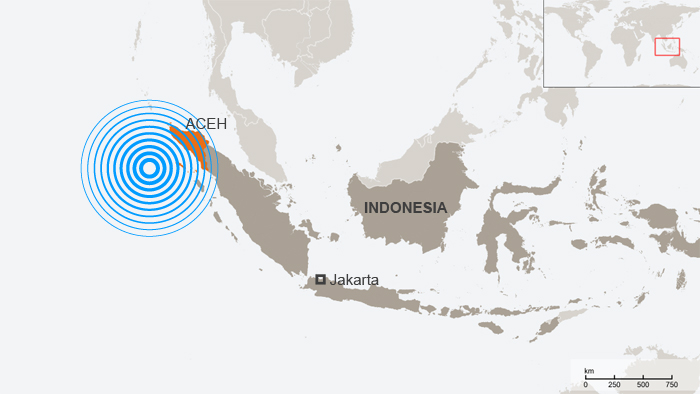 A map of Indonesia