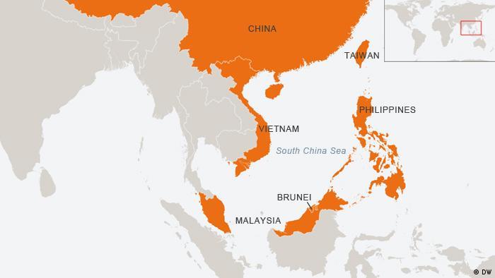 Karte Südchinesisches Meer Englisch