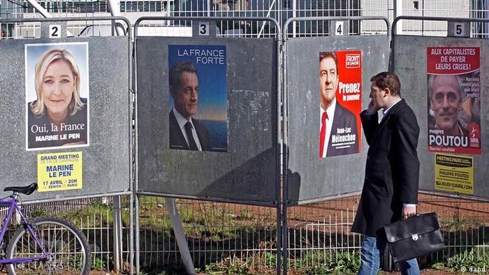 Предвыборные плакаты во Франции