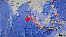 Indonesien / Erdbeben / Sumatra