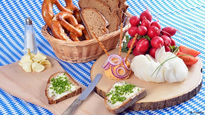 Bayrische Brotzeit Bayern vegetarisch ohne Bier