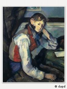 'Boy in the red waistocat' painting