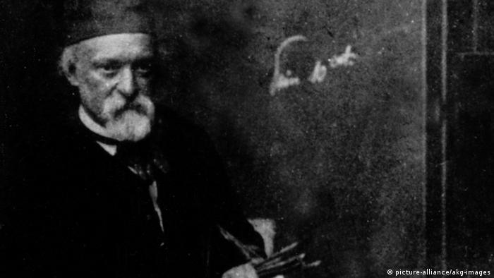 Paul Cézanne im Atelier Fotografie (picture-alliance/akg-images)