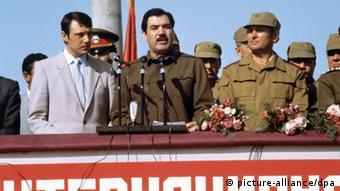 Руководитель Афганистана Мохаммад Наджибулла в провинции Герат в 1986 году