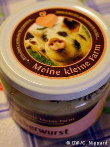 A jar of Leberwurst sold at Meine kleine Farm