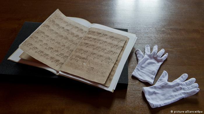 Manuscrito de El clave bien temperado, de Johann Sebastian Bach