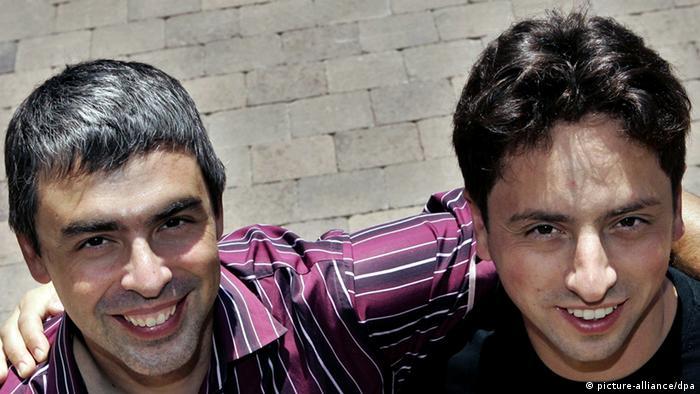 Google Gründer Larry Page und Sergey Brin
