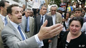 Nicolas Sarkozy La Courneuve 2005