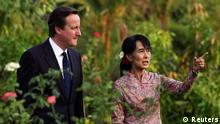 David Cameron und Aung San Suu Kyi