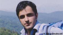Zia Nabavi ist ein iranischer Student, der im Gefängnis und im Hungerstreik ist. Rechteeinräumung: lizenzfrei, tahavolesabz, Undatierte Aufnahme, Eingestellt 13.04.2012 Quelle: http://www.tahavolesabz.net/item/37219
