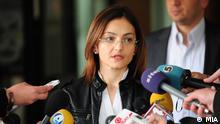 Die mazedonische Innenministerin Gordana Jankuloska am 13.04.2012 in Skopje. Foto: Macedonian Information Agency - MIA