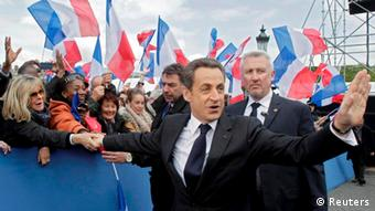 Sarkozy at a campaign rally