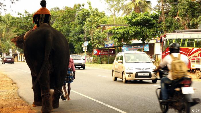 Indien Kerala Straßenverkehr