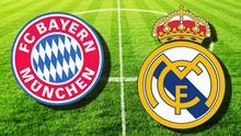 Fußball Logo Bayern München und Real Madrid