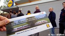 Bahntickets bei Lidl