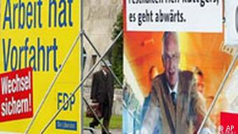 Landtagswahl in NRW Plakate