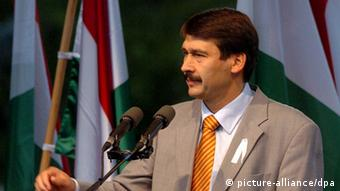 Hungarian President Janos Ader at an event in Budapest