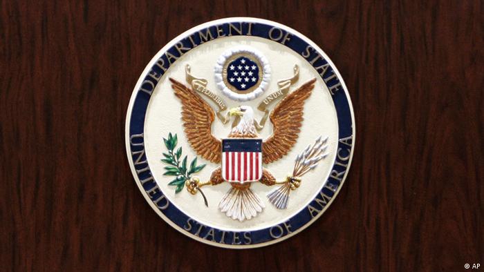 Symbolbild USA Außenministerium Logo Siegel (AP)