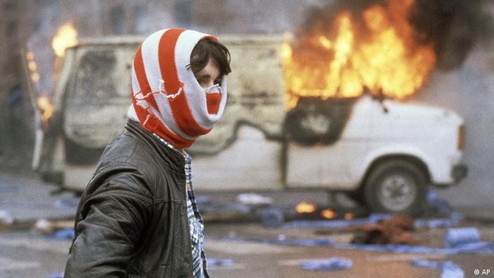 Unruhen in Belfast Nordirland 1981