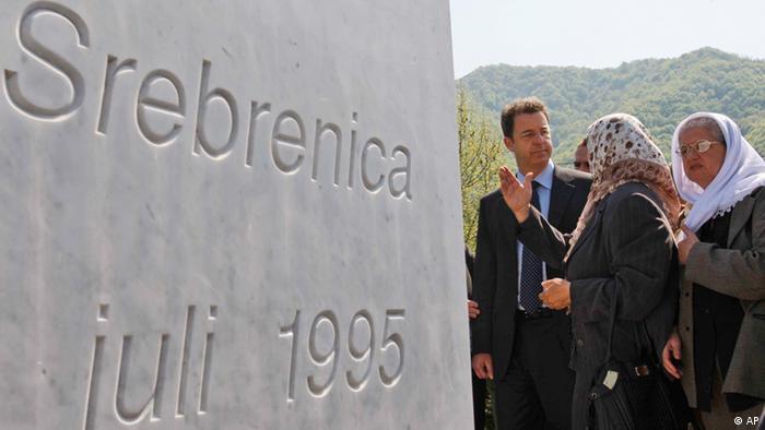 A memorial for victims of the Srebrenica massacre