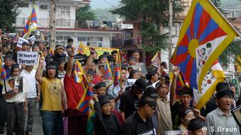 Chime Youngdung, Free Tibet March. Copyright: Stuart Braun 2012, Dharamsala, India