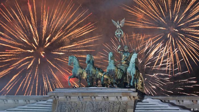 Новорічна вечірка біля Бранденбурзьких воріт у Берліні