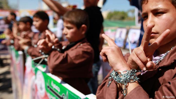 Demonstrierende Palästinenser (Foto: rtr)