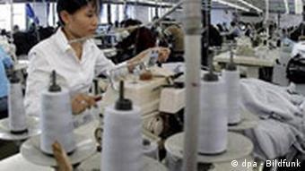 Produktion von adidas-Sportbekleidung in China