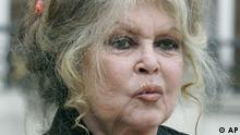 Former actress and now animals rights activist Brigitte Bardot smiles after a meeting on the environment with French President Nicolas Sarkozy, unseen, at the Elysee Palace, Thursday Sept. 27, 2007 in Paris. (ddp images/AP Photo/Jacques Brinon)