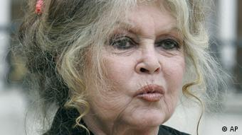 Former actress and now animals rights activist Brigitte Bardot smiles after a meeting