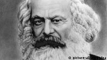 Der deutsche Philosoph und Politiker Karl Marx (undatierte Zeichnung). Bei der ZDF-Fernsehsendung Unsere Besten belegt Marx nach der ersten Ausgabe Platz neun der TED-Rangliste. Marx verfasste 1848 zusammen mit Friedrich Engels das Kommunistische Manifest. Er ist der Begründer des modernen dialektisch-materialistischen Sozialismus, des nach ihm benannten Marxismus, aus dem heraus sich die Sozialdemokratie und der Kommunismus entwickelt haben. Marx wurde am 5. Mai 1818 in Trier geboren und starb am 14. März 1883 in London.