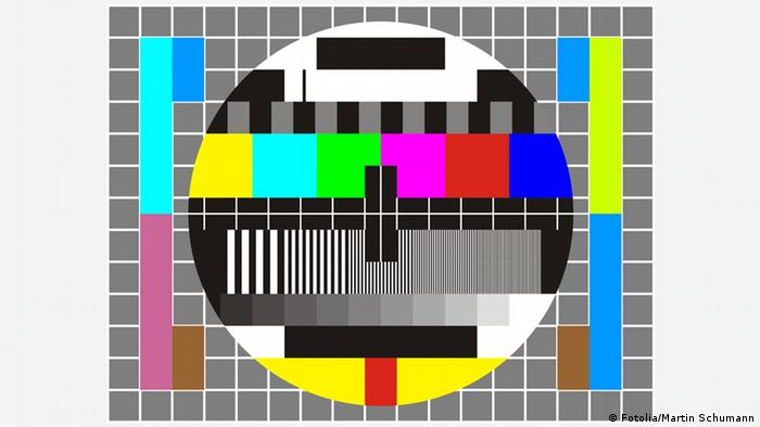 Color television test picture from Germany URL http://de.fotolia.com/id/12247571