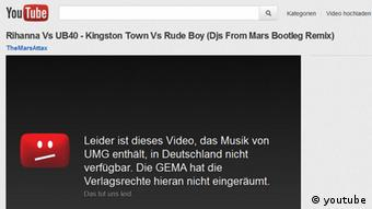Screenshot Youtube Gema (youtube)