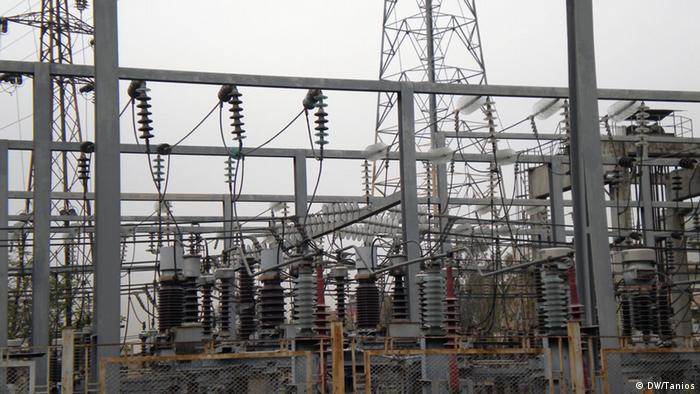 An electrical transformer station