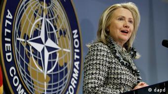 US-Außenministerin Hilllary Clinton (Foto: AP/Steve Helber)