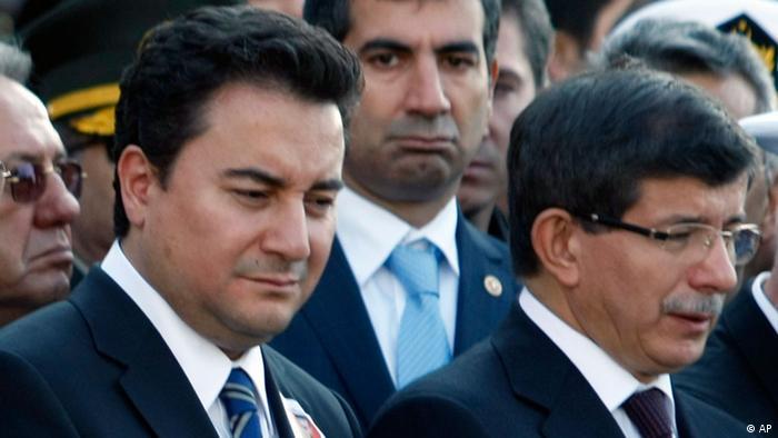 Али Бабаджан и Ахмет Давутоглу (отпред вдясно)