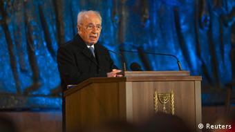 Israel Präsident Shimon Peres Eröffnungszeremonie Holocaust Gedenktag