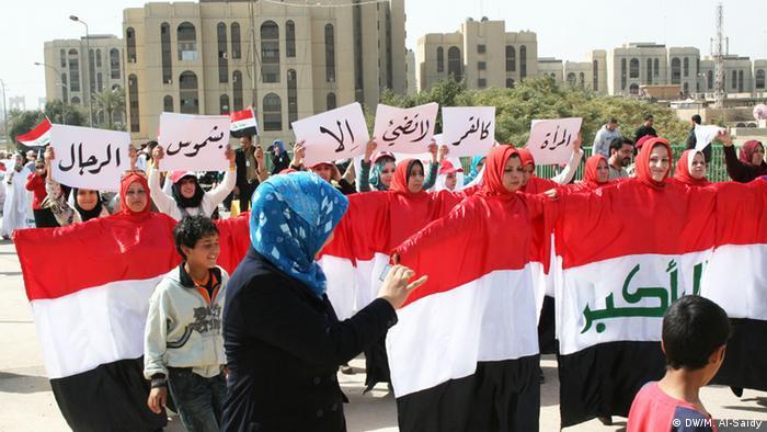 Irak Bagdad Frauen Demonstration Frauenrechte Gleichberechtigung