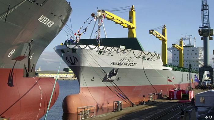 Schiffbau für Reederei IRISL Iran Wismar Containerschiff Iran Piroozi (AP)