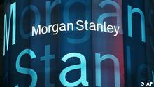 USA Wirtschaft Morgan Stanley Logo in New York