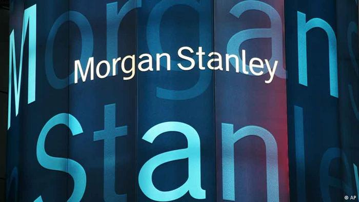 Stock tickers light up Morgan Stanley headquarters (AP Photo/Mark Lennihan)