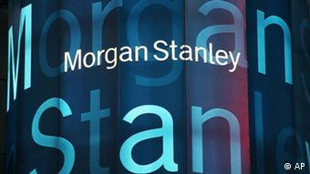 Stock tickers light up Morgan Stanley headquarters Monday, Sept. 22, 2008 in New York. Investment bank Morgan Stanley said Monday it signed a letter of intent to sell up to 20 percent of the company to Mitsubishi UFJ Financial Group Inc. (AP Photo/Mark Lennihan)