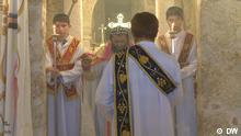 A Syriac priest conducts a service inside Mor Gabriel monastery (Photo: DW Copyright)