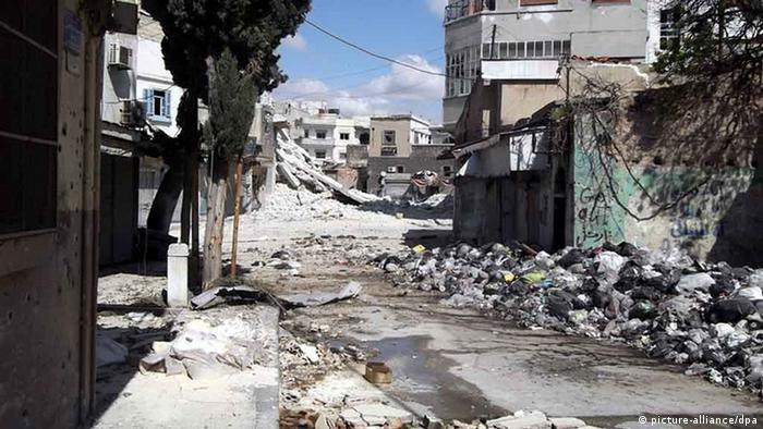 خانههای ویرانشده در حمص